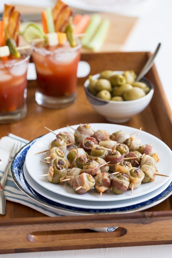Spicy Bacon Wrapped Olives
