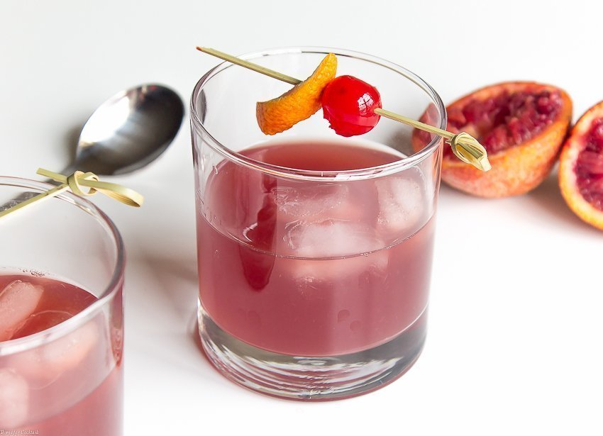 Seasonal Blood Orange Old Fashioned Cocktail