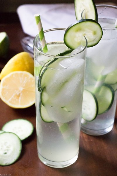 Infused Cucumber Collins Cocktail