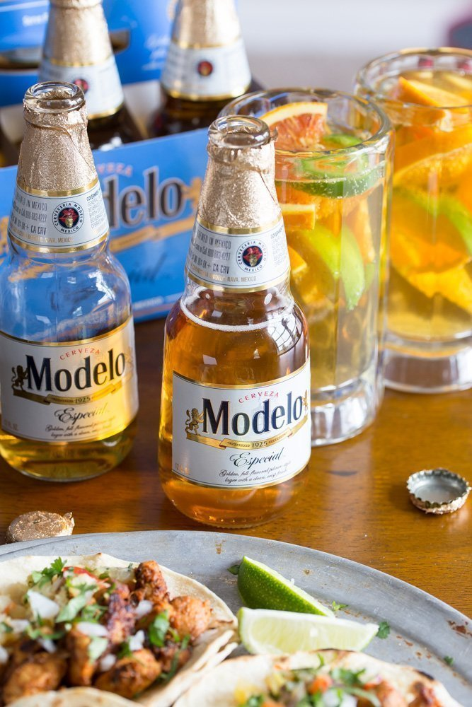 Modelo Especial® with Tacos al Pastor and spice beer sangria