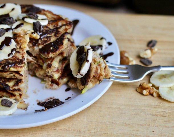 Vegan Zucchini Banana Pancakes