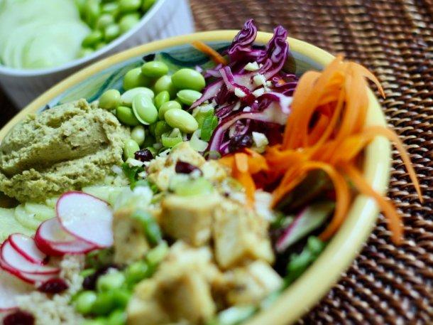 Tangy Tofu Buddha Bowls