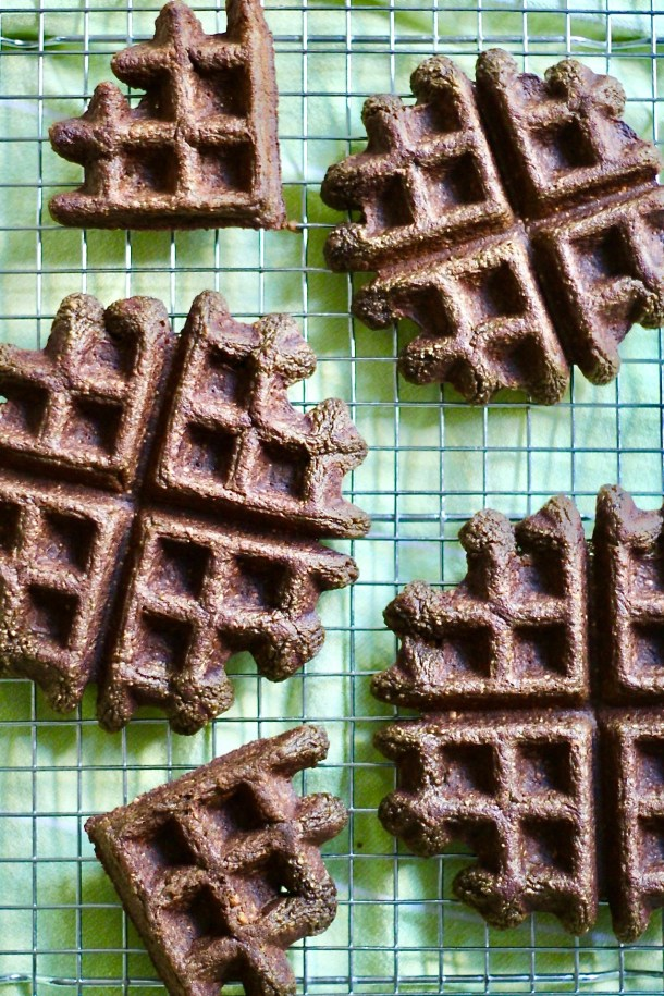 chocolate sweet potato waffles