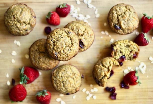 oat flour carrot cake muffins