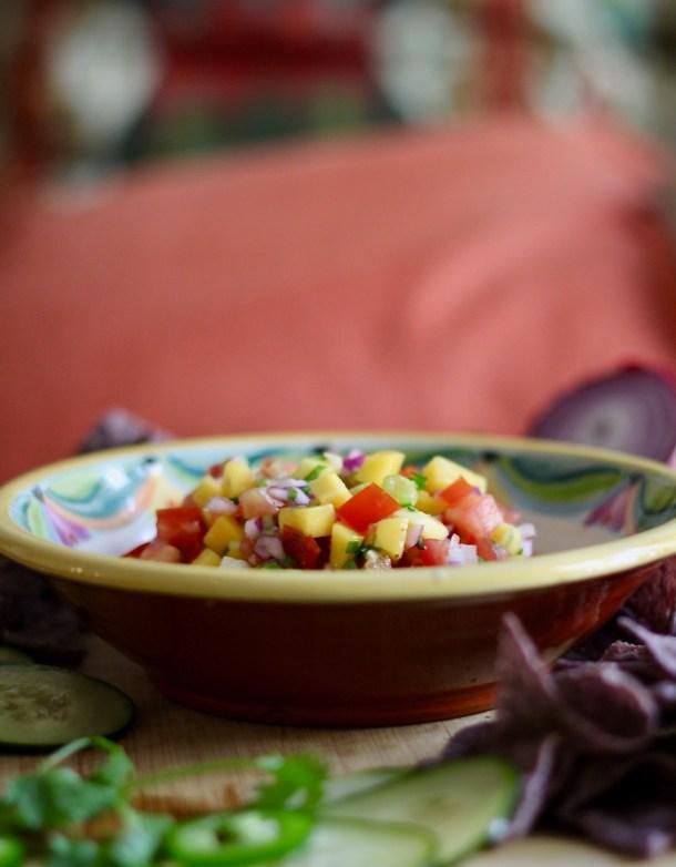 rainbow mango salsa