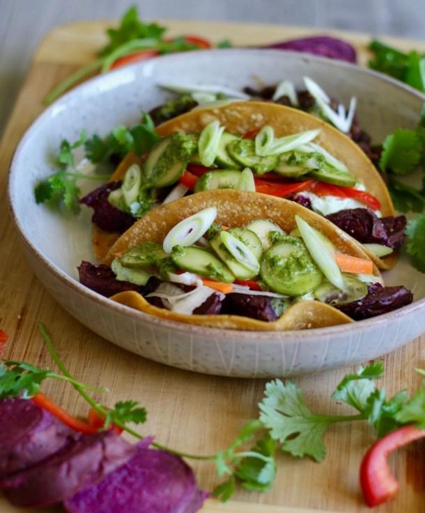 Crockpot Sweet Potato Tacos