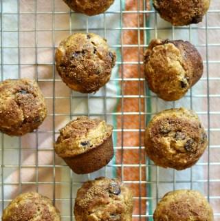 Cassava sweet potato muffins