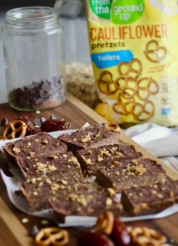 Mint Chocolate Pretzel Protein Bars