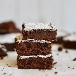 Vegan Chickpea Almond Butter Brownies