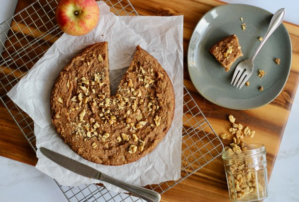 Paleo Applesauce Tea Cake