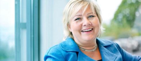 Erna Solberg - the Norwegian prime minister