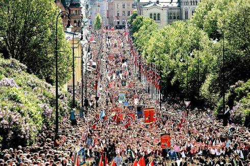 The celebration of the 17th of May in Norway