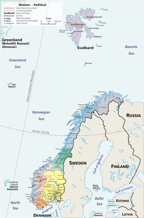 Svalbard is pretty far to the north and far from mainland Scandinavia so polar bears are not really a danger to most Scandinavians