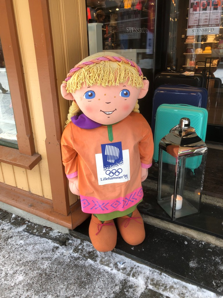 The Kristin-doll from the Olympic Games in Lillehammer, is everywhere.