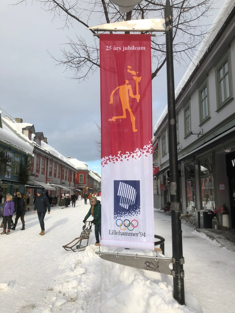 """A 25th anniversary celebration in Lillehammer. The Northern lights were the logo and a modern remake of the old """"helleristninger"""" were illustrations"""