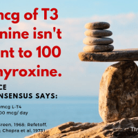 No, 25 mcg of L-T3 Liothyronine isn't equivalent to 100 mcg L-T4