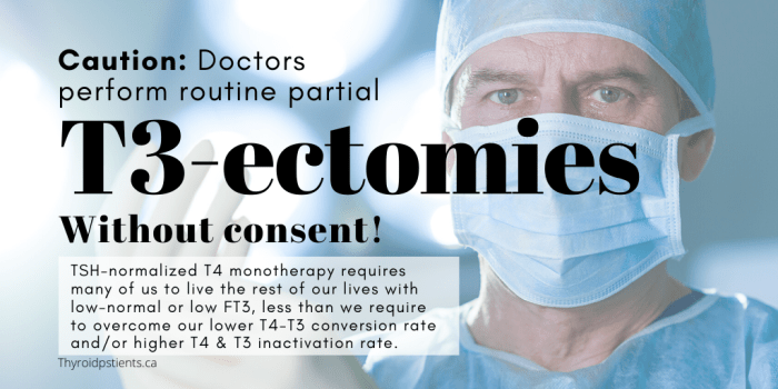 Endocrinologists perform T3-ectomies