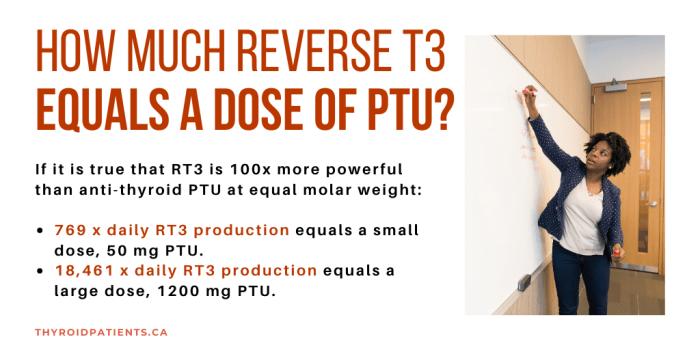 How muchRT3 in PTU