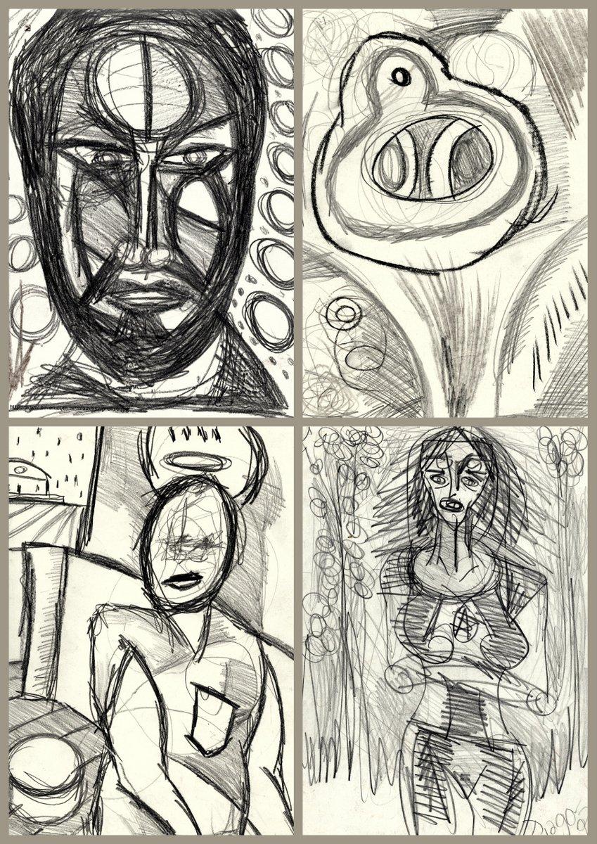 1-desenho-despir sangrentos perfis - grafite