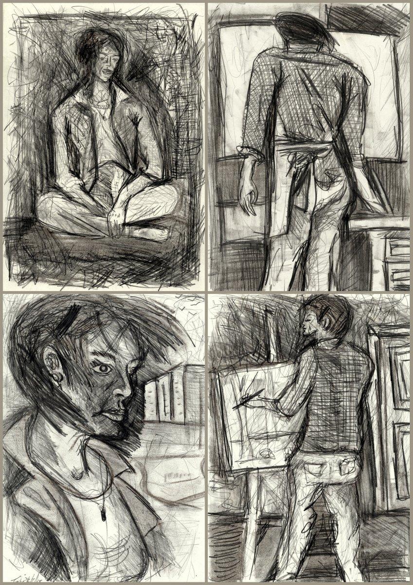 1-desenho-despir sangrentos perfis - grafite1