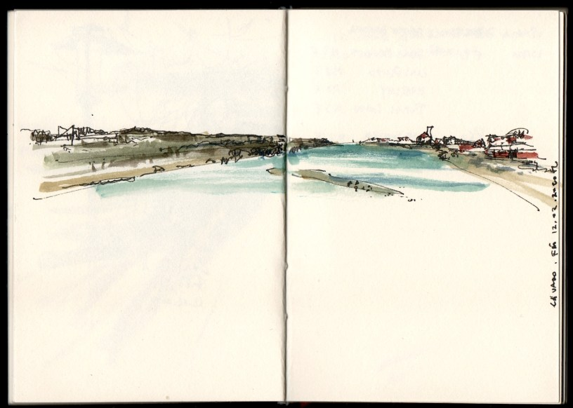 drawing of the river in Ofir, Portugal