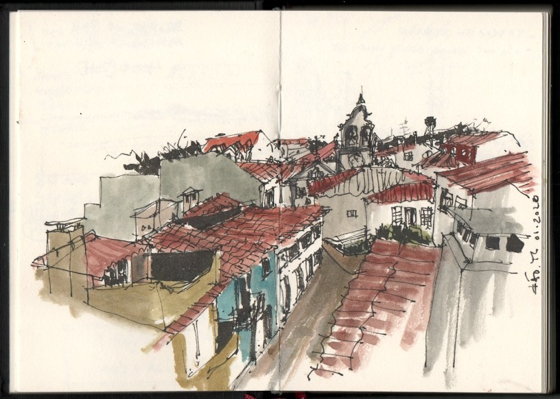 drawing of Fão, Portugal, 01.2020