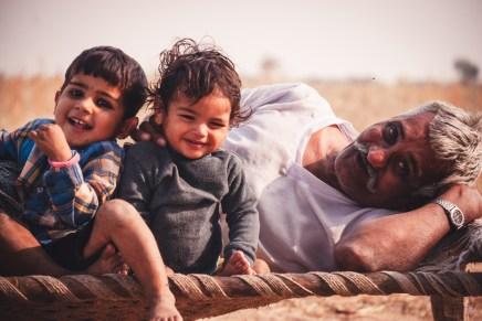 family living in thar desert