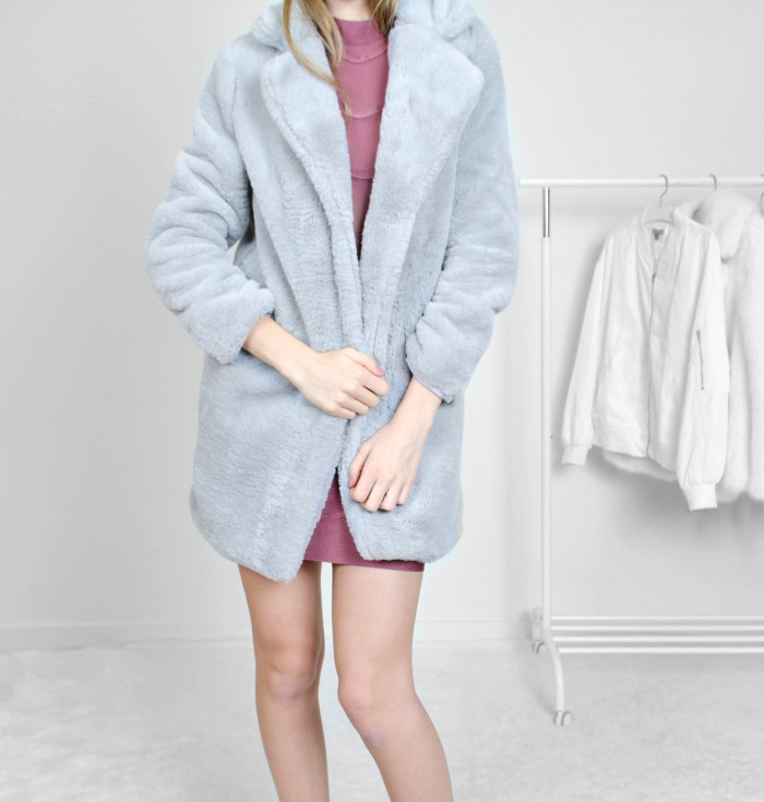 Grey Fur coat
