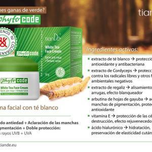15201 Crema de Cara Con Té Blanco, TianDe, 50 g,