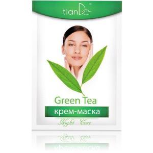 50101 Mascarilla de Cara «Té Verde» TIANDE. Prevención de Envejecimiento  1 ud/18g