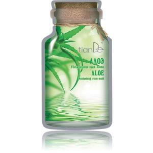 """50109 Mascarilla Facial Hidratante Cremosa """"Aloe"""" Hidratación y Restauración de la Piel , TIANDE  35g"""