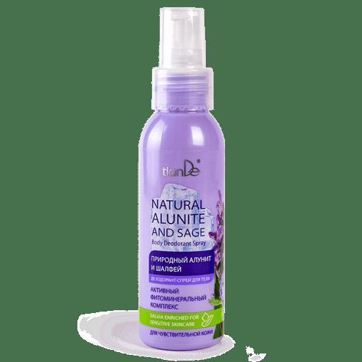 Спрей-дезодорант за тяло Натурален алунит и салвия