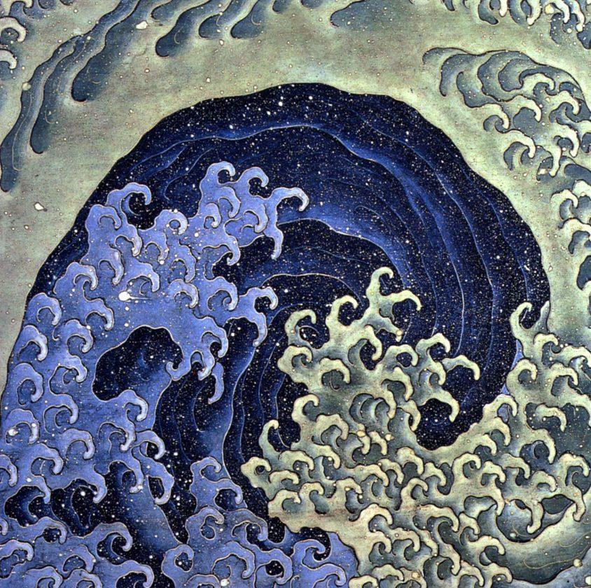 Vague feminine, Katsushika Hokusai