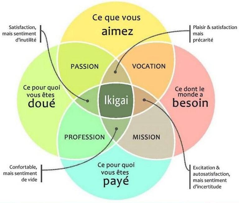Illustration de l'ikigai : l'art de vieillir en restant jeune,