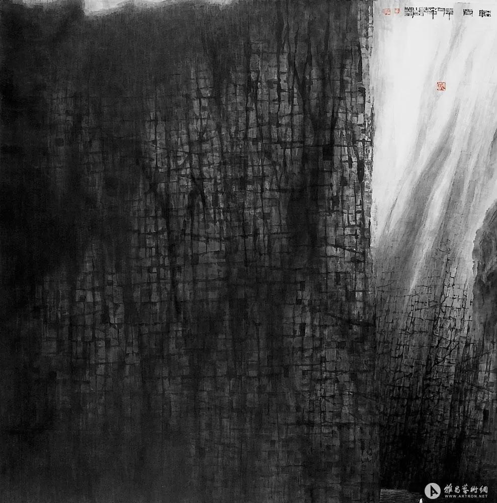 Canot, encre sur papier réalisée en 2006 par Wong Hau Kwei
