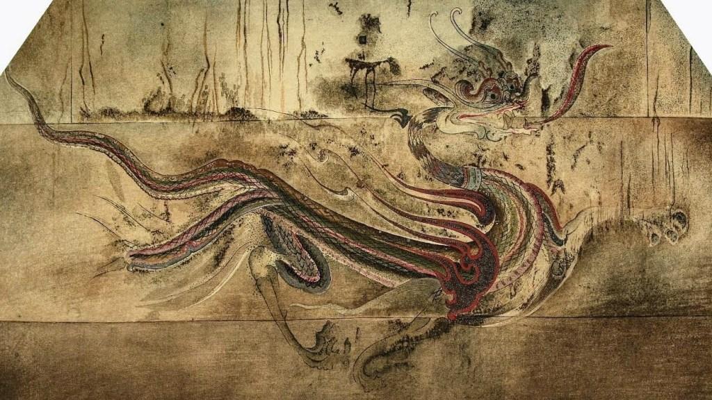 Dragon d'azur, peinture murale de la tombe de Goguryeo