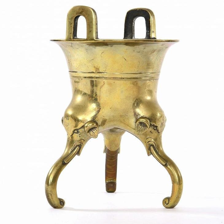 Encensoir en bronze avec jambe d'éléphant, Chine, 17e siècle
