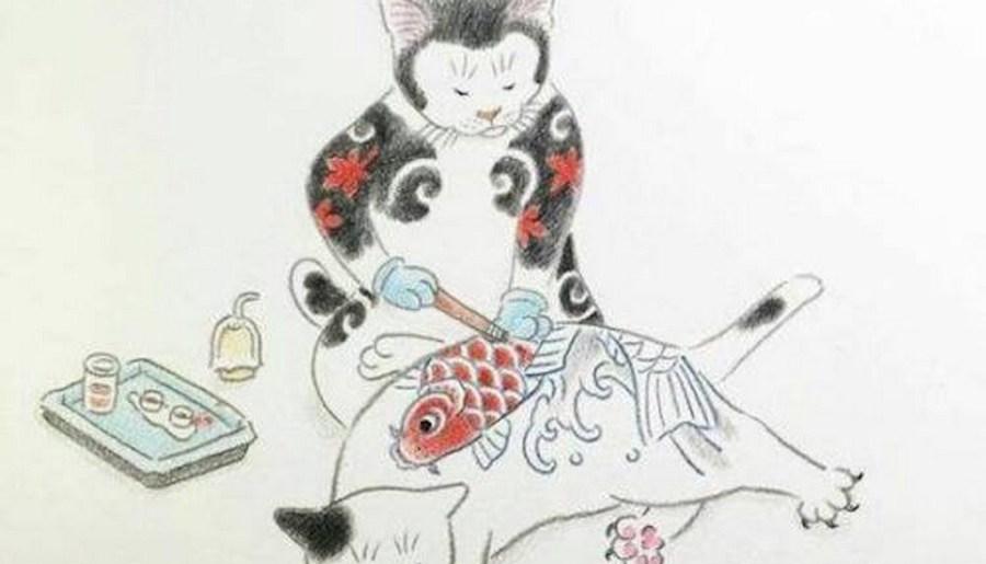 Chat tatoueur de Kazuaki Horitomo