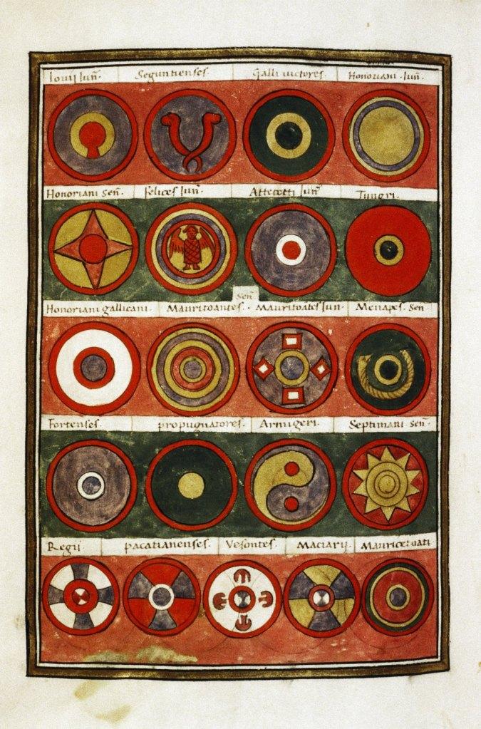 Magister Peditum (Insigne du magister militum praesentalis.) Page 4 de la Notitia Dignitatum (5e siècle EC)