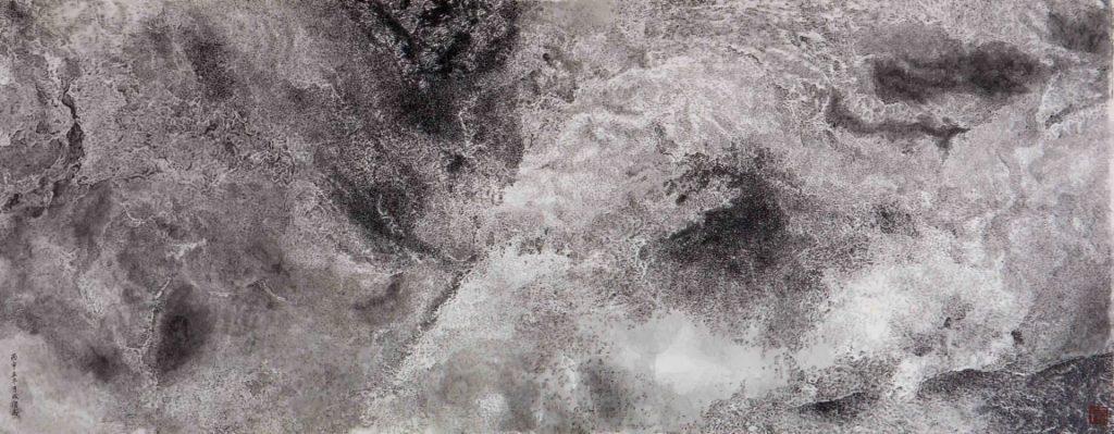 Turbulences, encre & couleur sur papier de GuanZhi