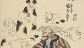 Les merveilleuses techniques du vieux chat, Kuniyoshi