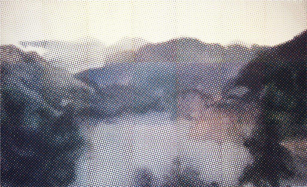 Paysage, 2007, sérigraphie de Jiang Chao