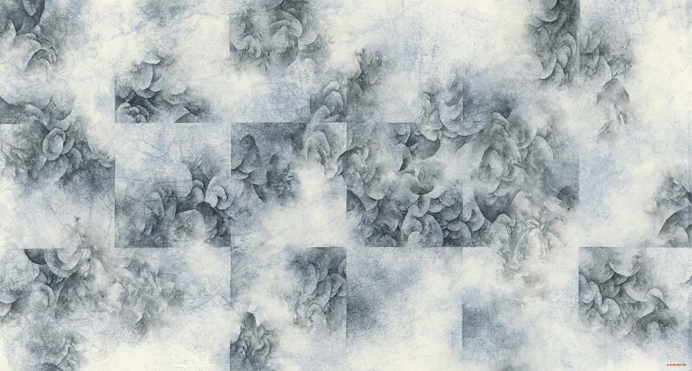 Chevaucher la brume X, 2019. Encre et couleur sur papier, Yau Wing Fung
