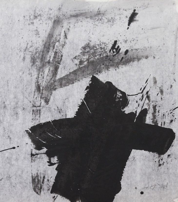 Sans Titre, 2013, encre de Chine sur papier, Yang Xiaojian