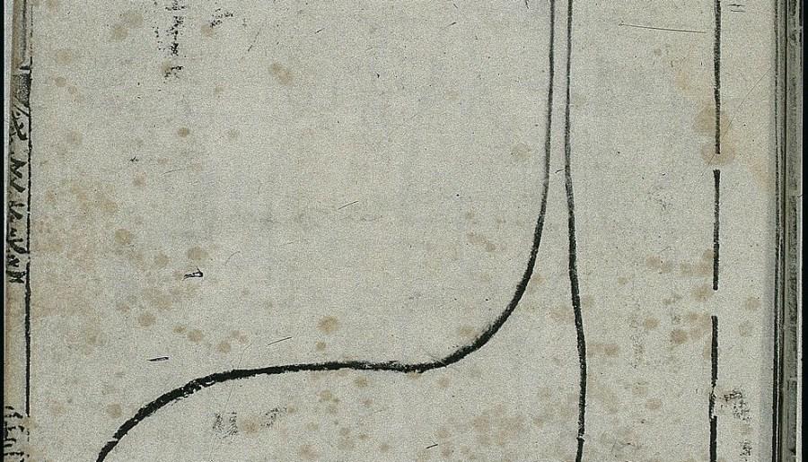 Anatomie de l'estomac dans la médecine chinoise ancienne, gravure sur bois