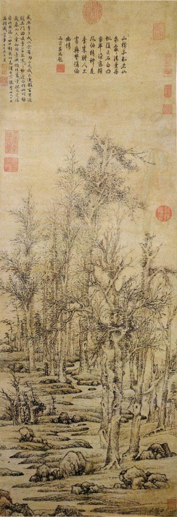 Imitation de la peinture forestière de Li Chenghan, encre sur papier, 1542, Wen Zhengming