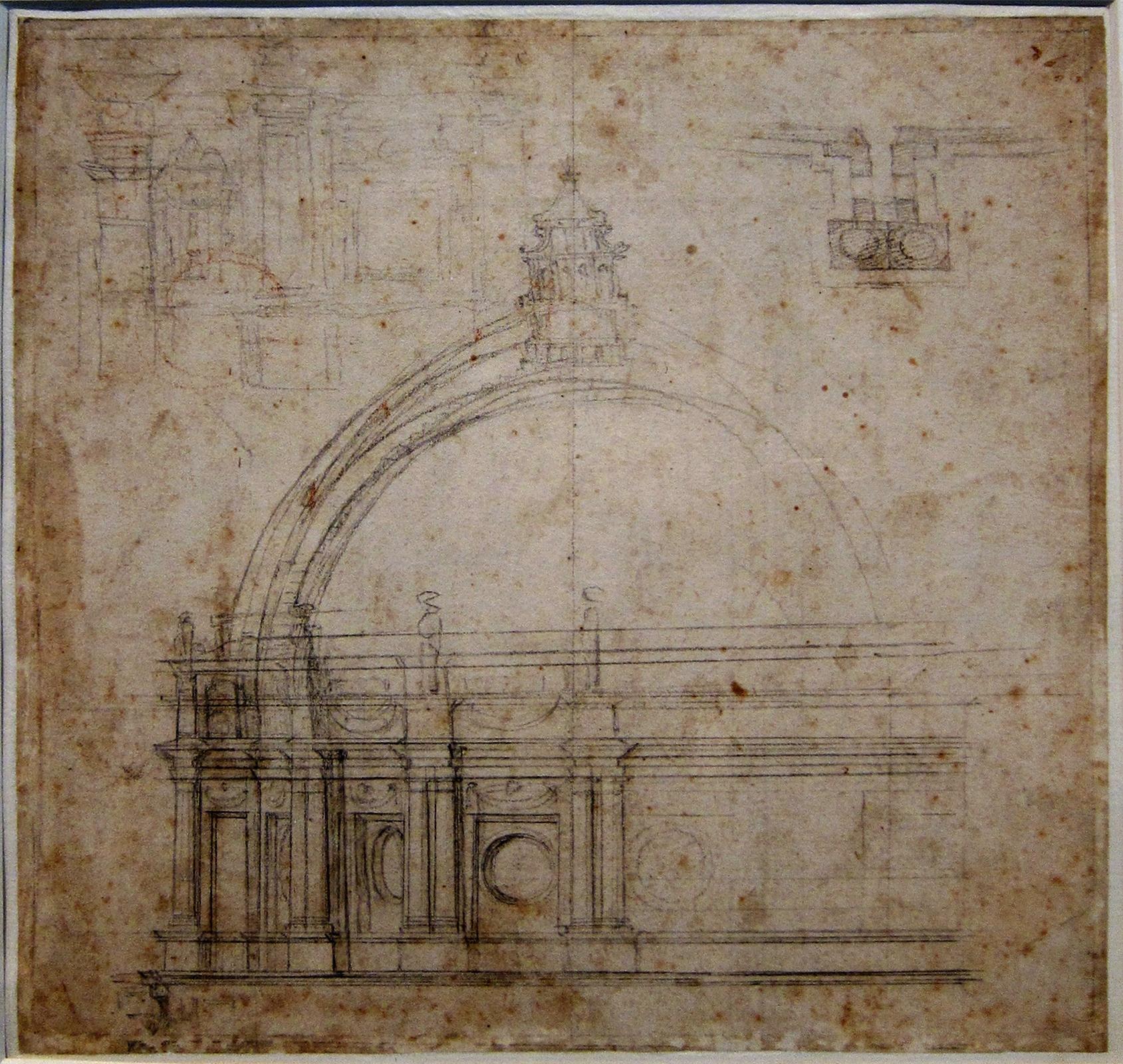 Étude de Michel-Ange pour le Dôme de Saint-Pierre, Palais des Beaux-Arts de Lille