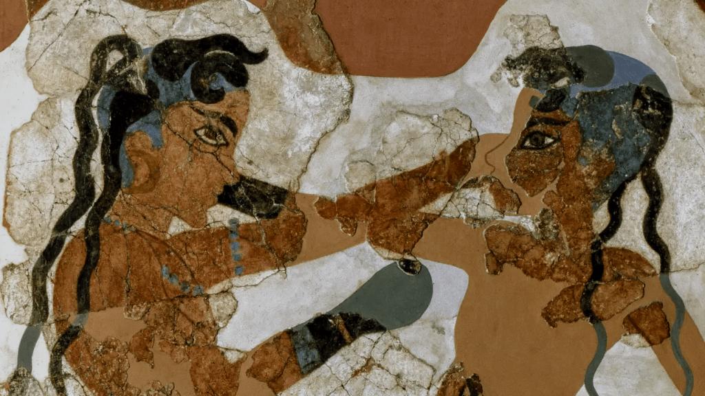 Fresque des jeunes boxeurs, détail, Akrotiri