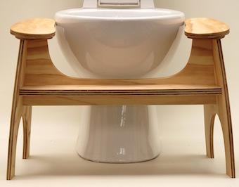 Le Lillipad est conçu pour s'asseoir au niveau ou au-dessous du bord des toilettes.
