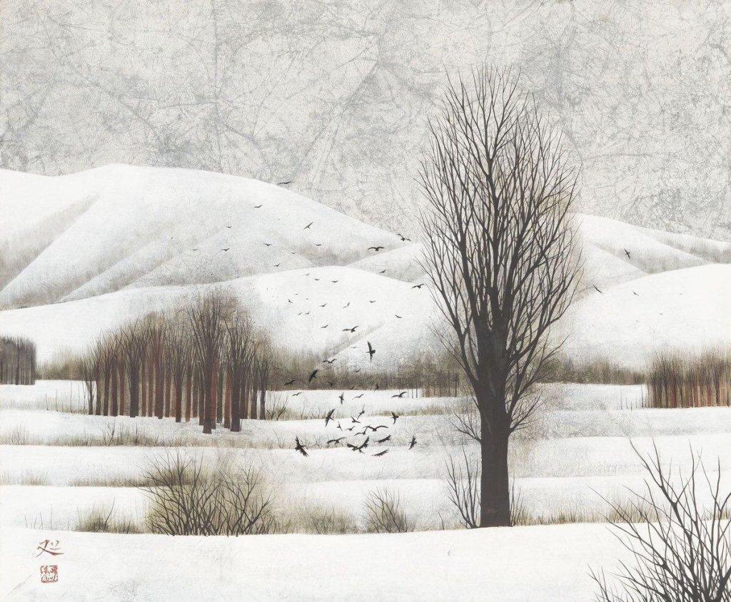 Paysage d'hiver, Kayama Matazō